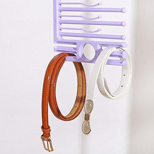 Kreative Multifunktions-S-Typ Kleiderbügel Mehrlagige Lagerung Hosenständer Multifunktionale Wollkleider Kleiderbügel Kleiderbügel Aufbewahrungsregal Schal Handtuchhalter Krawattengurt Multifunktionale Aufbewahrung Shel,Purple
