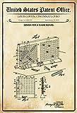 US Patente - Design for A Game Board - Entwurf für ein Brettspiel - Coffin, Ohio 1935 - Design No 1.988.301 - schild aus blech, metal sign, tin