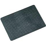 Raida Universal Gummimatte, Auto Fußmatte, 60 x 42 cm in Schwarz, 1 Stück