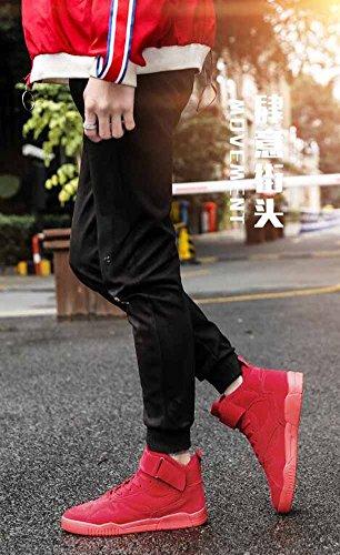 Uomini Leggero In Esecuzione Scarpe 2018 Primavera Nuovo Casuale Pattinare Scarpe Moda Piatto Scarpe Da Ginnastica Rosso