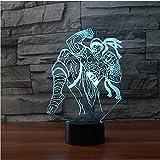 3D Led 7 Farbwechsel Boxing Warriors Modellierung Nachtlichter Spielfigur Tischlampe Schlafzimmer Atmosphäre Lamparas Decor Kinder Geschenke