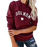 ITISME Damen Strickjacke Mode Womens Brief Print Mode Langarm Bluse Tops Splicing Sweatshirt Damen Sweatershirt Pullover Outwear Strickpullover