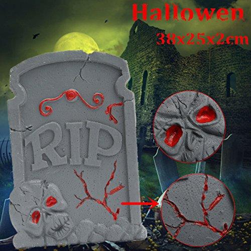 Halloween Schaumstoff Skelett Grabstein Haunted House Rip Stein Grisly Requisiten Party Decor (Halloween Skelett Requisiten)