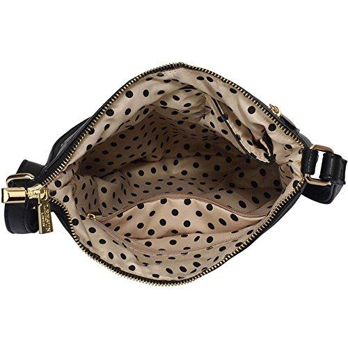 LeahWard® Kreuzkörper Schmetterling Taschen nett Groß Schulter Handtaschen 481 Schwarz Umhängetasche 1