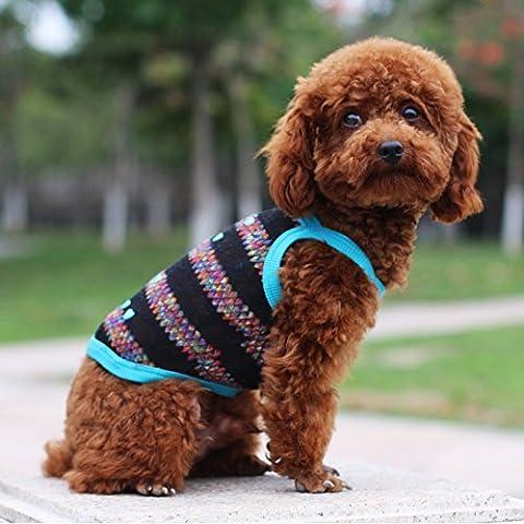 Cane vestiti vestBarboncinoMolla del cane e abbigliamento estivo con animali domestici nei giorni shirtBichon fris OcéTempo libero,Cuore web blu cinturino,14Numero