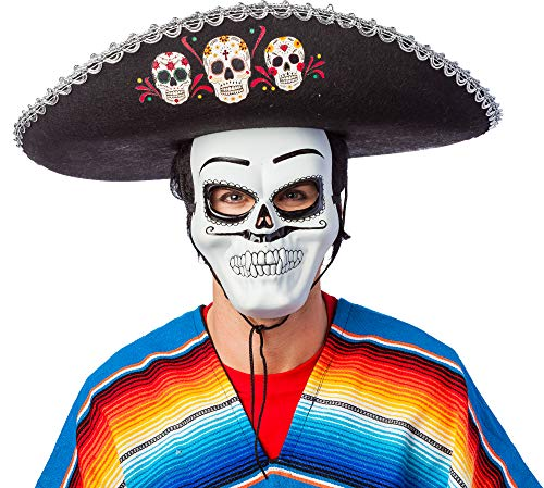 Sombrero Day of the Dead - Toller Hut zu Mexikaner Kostüm, Halloween, Dia de los Muertos und Karneval