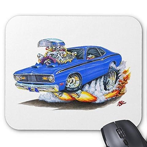 1970–74Plymouth Duster voiture Bleu Tapis de souris