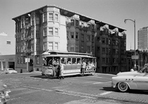 USA California San Francisco Cable car on Powell Street Poster Drucken (45,72 x 60,96 cm)