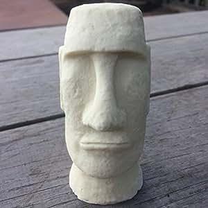 8cm weiß Mini Desktop Louvre Statue Osterinsel Kopf Strumpffüller