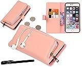 Urvoix iPhone 6Plus/iPhone 6s Plus custodia, organizer in pelle PU borsa frizione staccabile con custodia, per carta e zip della copertura per iPhone6Plus/6s Plus (14cm)