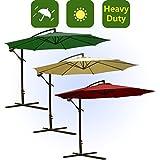 10' Gartenschirm Ampelschirm Schirm Inkl. Schirmständer Sonnenschirm