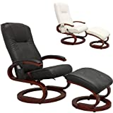 STILISTA Massagesessel im S-Design, Farbvarianten, HEIZFUNKTION, extra dicke Polsterung, schwarz