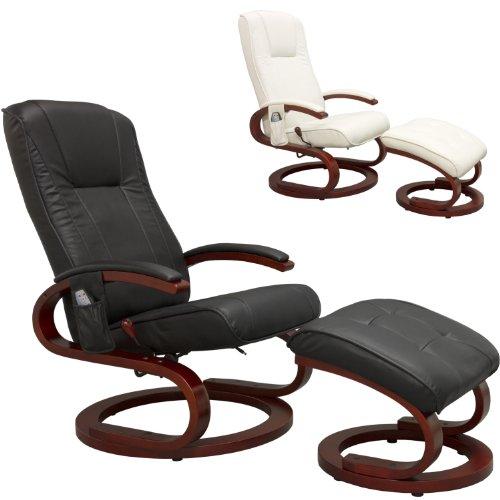 STILISTA® Massagesessel Fernseh Relax TV Sessel im S-Design, Heizfunktion, extra dicke Polsterung, Farbvarianten schwarz / weiß