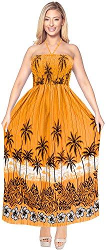 La-Leela-mujeres-de-la-falda-tubo-beachwear-cabestro-encubrir-larga-playa-batas-usar-el-vestido-de-oro