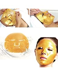 ONE1X - 2X Crystal 24K Gold Powder Gel Collagen Face Mask Masks Sheet Patch, Anti Ageing Aging, Skincare, Anti Wrinkle, Moisturising, Moisture,