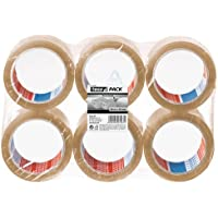 Tesa Set of 6 Adhesive Packing Tape 66 m x 50 mm Clear