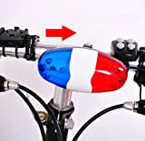 Generic Bicycle Bike 4 Tones Trumpet Electronic Siren Beeper Horn Bell Policy Car Style