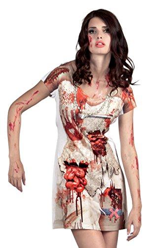 Boland 84303 - Fotorealistisches Kleid Zombie Bride, Kostüme -