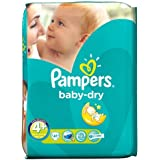 Couches Pampers Baby Dry taille 4  + Étui Pack Essential 41 par lot de 5