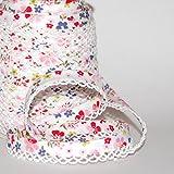 Schrägband Blumen-Design