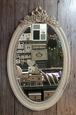 Charmanter Landhaus Holz Wandspiegel 18-3 Spiegel antik Garderobenspiegel Flurspiegel Barock