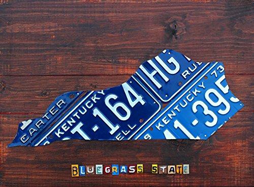 Design Turnpike – Kentucky License Plate Map Kunstdruck (81,28 x 60,96 cm)