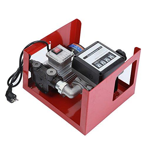 Flyelf Olio Diesel Extractor, Pompa Gasolio Elettrica 220V 60L/min, Pompa Gasolio Elettrice Liquidi Diesel Pompa