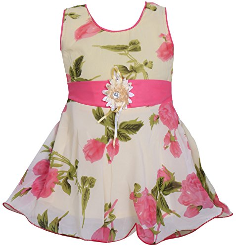 Mpc Cute Fashion Baby Girl's Sifon Dresses for (Pink, 3-6 Months)