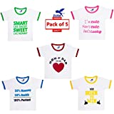 #10: Zura's Export Quality Cotton Boy Baby Tshirt / Girl Baby Tshirt / Baby dress / Kids Tshirt / Baby Teeshirt (Pack of 5)