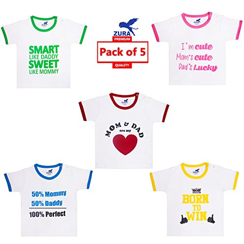 zura's export quality cotton boy baby tshirt / girl baby tshirt / baby dress / kids tshirt / baby teeshirt (pack of 5) - 51K6gj3zazL - Zura's Export Quality Cotton Boy Baby Tshirt / Girl Baby Tshirt / Baby dress / Kids Tshirt / Baby Teeshirt (Pack of 5) home - 51K6gj3zazL - Home