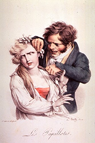 POSTER A3 Medicine Les papillotes (The curl-papered woman) Creator: Louis Boilly (artist) - Poster Curl