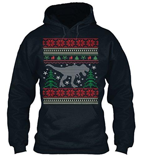 n / Herren / Unisex von Teespring | Originelles Outfit für jeden Anlass und lustige Geschenksidee - T-REX Ugly Christmas Sweater (T-rex Outfit)
