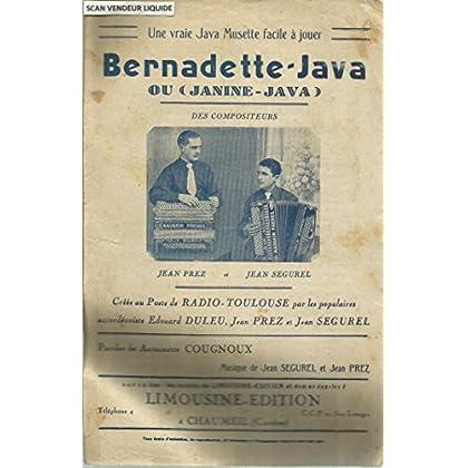 Bernadette-Java ou Jeanine-Java - Vraie java musette facile à jouer - Créée au Poste de Radio Toulouse par les populaires accordéoniste Edouard Duleu, Jean Prez et Jean Segurel