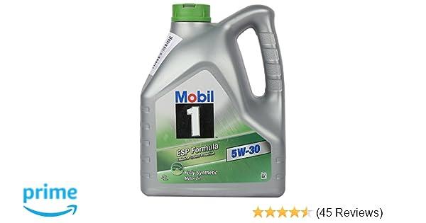 Mobil 1 Esp 5w 30 Api Sm Sn Fully Synthetic Motor Oil For Cars 4 L