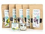 KULAU Sea Veggies Probierpaket - Bio-Algensalz & getrocknete Bio-Algen / Dulse / Wakame / Nori / Meersalat / Meeresspaghetti
