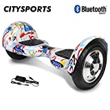 Citysports Hoverboard 10 Pouces, Bluetooth, Self Balance Scooter Auto-équilibrage 700W