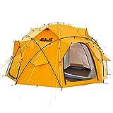 Jack Wolfskin Unisex- Erwachsene Base Camp Dome Kuppelzelte, Burly Yellow, ONE Size