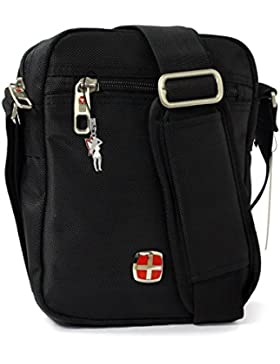 New Bags Umhängetasche Schultertasche Messenger Bag Polyester schwarz OTD204S