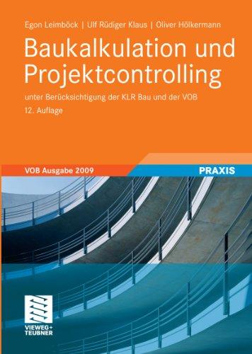 baukalkulation-und-projektcontrolling-unter-bercksichtigung-der-klr-bau-und-der-vob