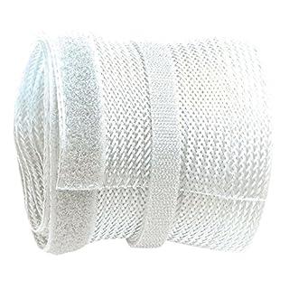 RICOO Kabelkanal Kabelschlauch Z9085W-5 Kabelhalter Kabelmanagement Kabelbinder Klettverschluss Kabeldurchführung Kabel Organizer Klettband Verstecken / 5m Weiß