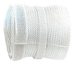 RICOO Kabelkanal Z9135W-10 Weiß 10m Länge   Kabelschlauch wiederverschließbar mit Klettverschluss Kabelführung Kabel Organizer Kabel-Management Kabeldurchführung Kabelorganisation