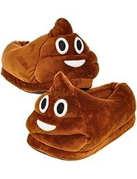 1f76c02419f7c Emoji Poop Pantoufles Pantoufles Panda en peluche, Doux Chaud Confortable  Mignon et Unisexe Hiver Chaussures
