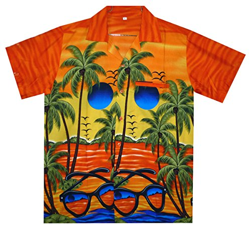 Funky Hawaiihemd, Sunglasses, orange, XXL