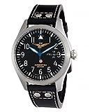 Aeronautica Militare AVQ1C1 - Reloj , correa de piel de borrego color negro