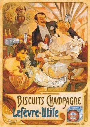 Vintage Posters 05 - Galletas Champagne (68 x 47cm) (DT67579-PS-05)