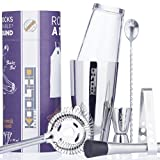 KOOLTHO Set Cocktail Professionale con Boston Shaker Misurino Cocktail e Accessori da Barman | Kit per Cocktail Completo in Scatola Regalo | Scopri il Bartender che c'è in te!