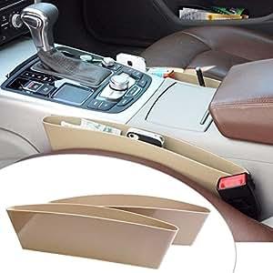 RIDAR Car Storage Box Caddy Pocket Catcher 2pcs Beige for Mahindra TUV-300