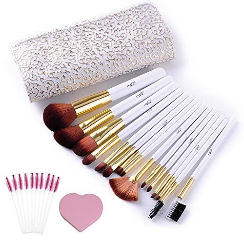 Pinceaux de Maquillage Professionnel 15 pièces Ligne de Luxe + Cadeau !