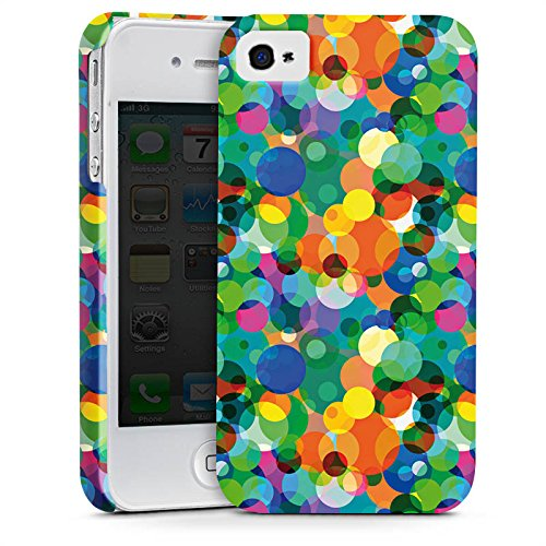 Apple iPhone X Silikon Hülle Case Schutzhülle Punkte Muster sommertrend Premium Case glänzend