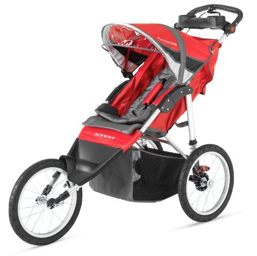 schwinn-arrow-single-stroller-red-black-by-schwinn
